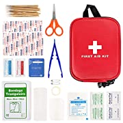 100 Pcs First Aid Kits, Mini First Aid Kits, Compact Emergency Survival Kit, Includes Scissor, Tweezer, Bandage…