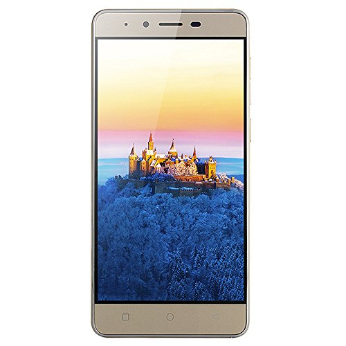 Unlocked Phone,5.0 inch Ultrathin Android 5.1 Quad-Core 512MB+4GB GSM 3G Dual SIM Dual Camera Smartphone (Gold, MATE9)