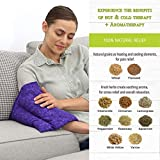 Nature Creation Microwavable Heating Pad for Cramps - Herbal Hot and Cold Pack for Relief of Arthritis Back Pain, Tired Muscle After Work Out, Headaches, and to Relax After a Long Day