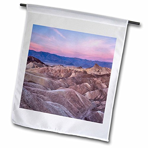 - 3dRose Danita Delimont - Deserts - USA, California, Death Valley. Sunrise over Zabriskie Point. - 18 x 27 inch Garden Flag (fl_278595_2)