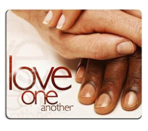 Love One Another Mouse Pads Customized Made to Order Support Ready 9 7/8 Inch (250mm) X 7 7/8 Inch (200mm) X 1/16 Inch (2mm) High Quality Eco Friendly Cloth with Neoprene Rubber MSD Mouse Pad Desktop Mousepad Laptop Mousepads Comfortable Computer Mouse Mat Cute Gaming Mouse_pad