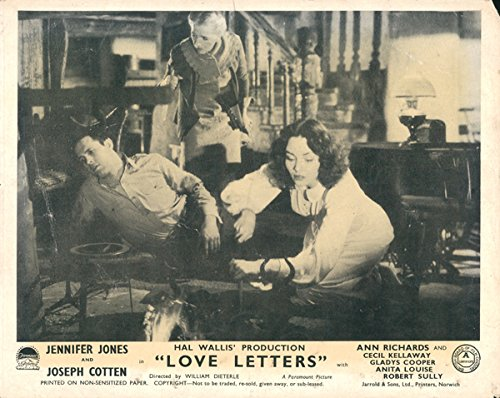 Love Letters Original Lobby Card Jennifer Jones Gladys