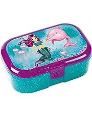 Lutz Mauder 10663 Glitterlunchbox, voor kinderen, perfect voor Nixen-fans, lunchbox, broodtrommel, school, basisschool, eerste schooldag