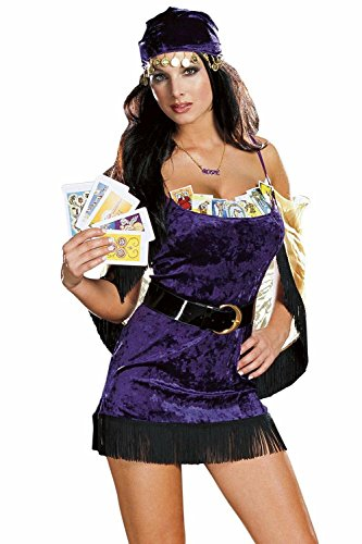 Dreamgirl Women's Velvet Palm Reader Sexy Fortune Teller (Fortune Teller Costumes Ideas)