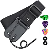Guitar Strap for Electric Guitar, Bass and Acoustic Guitar, Includes 2 Strap Locks,3 Pack Guitar Picks