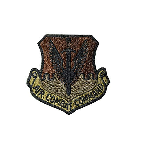 US Air Force Air Combat Command OCP Scorpion Spice Brown Patch with Hook Fastener ()