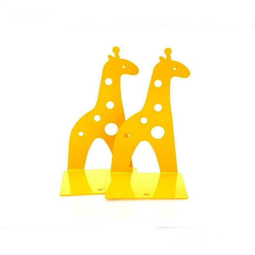 Cute Giraffe Nonskid Bookends Book Ends Organizer Bookend Art Gift,1 Pairs,Yellow by TOBSON (Image #3)