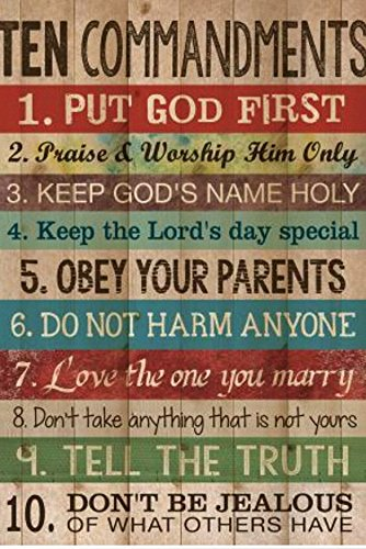 (10 Commandments.Art Poster Print Wall Decorative Paper 20-Inch By 30-Inch)