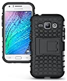 AJM Samsung Galaxy J1 4G Defender Stylish Hard Back Armor Shock Proof Case Cover with Back Stand Feature