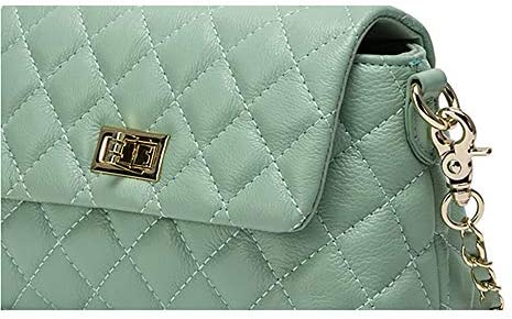 Damen-Ledertragetasche, Cyan, Moderne beiläufige Wilde Retro Tragetasche, New Kuh-Leder-Leder-Multifunktionsschulter-Beutel, 20cm * 14cm * 8cm Handtasche, Umhängetasche