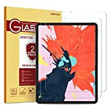 OMOTON [2 Pack] Screen Protector for All Screen iPad Pro 12.9-inch 2018 Release [Work with Face ID & Apple Pencil] - Tempered Glass High Definition 9 Hardness