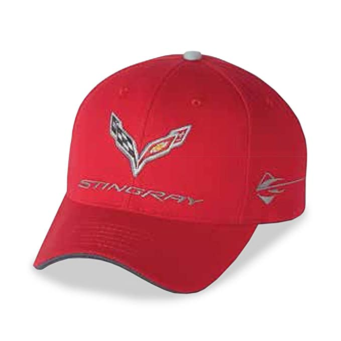 9a75a381fd711 C7 Corvette Stingray Car Color Matching Hat Cap - Embroidered (Torch Red)