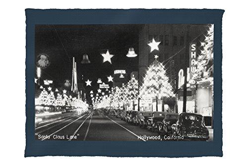 Hollywood, California - Santa Claus Lane Parade on Hollywood Blvd Photograph (60x80 Poly Fleece Thick Plush - Map California Blvd Hollywood