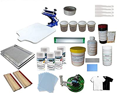 1 Color Screen Printing & Consumables Pigment Materials Kit T-Shirt DIY Full Set Simple Kit Press (Item#219401)