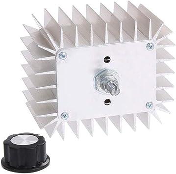 Vipithy AC 220V 5000W SCR Regulador de Voltaje Dimmer Controlador ...