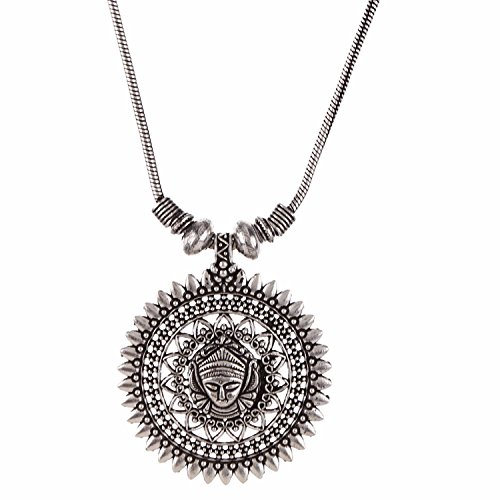 Efulgenz Indian Vintage Retro Ethnic Gypsy Oxidized Tone Boho Necklace Jewellery for Girls and Women Gift for Her by Efulgenz