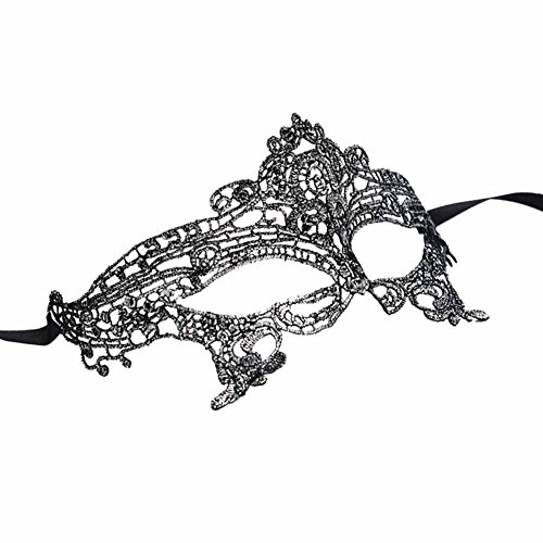 Mai Yi Stylish Lace Mask Catwoman Halloween Cosplay Masquerade]()