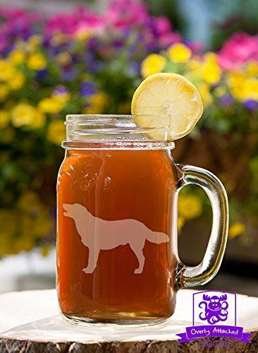 Retriever Dog Mason Handled Jar Beer Mug Gift ()