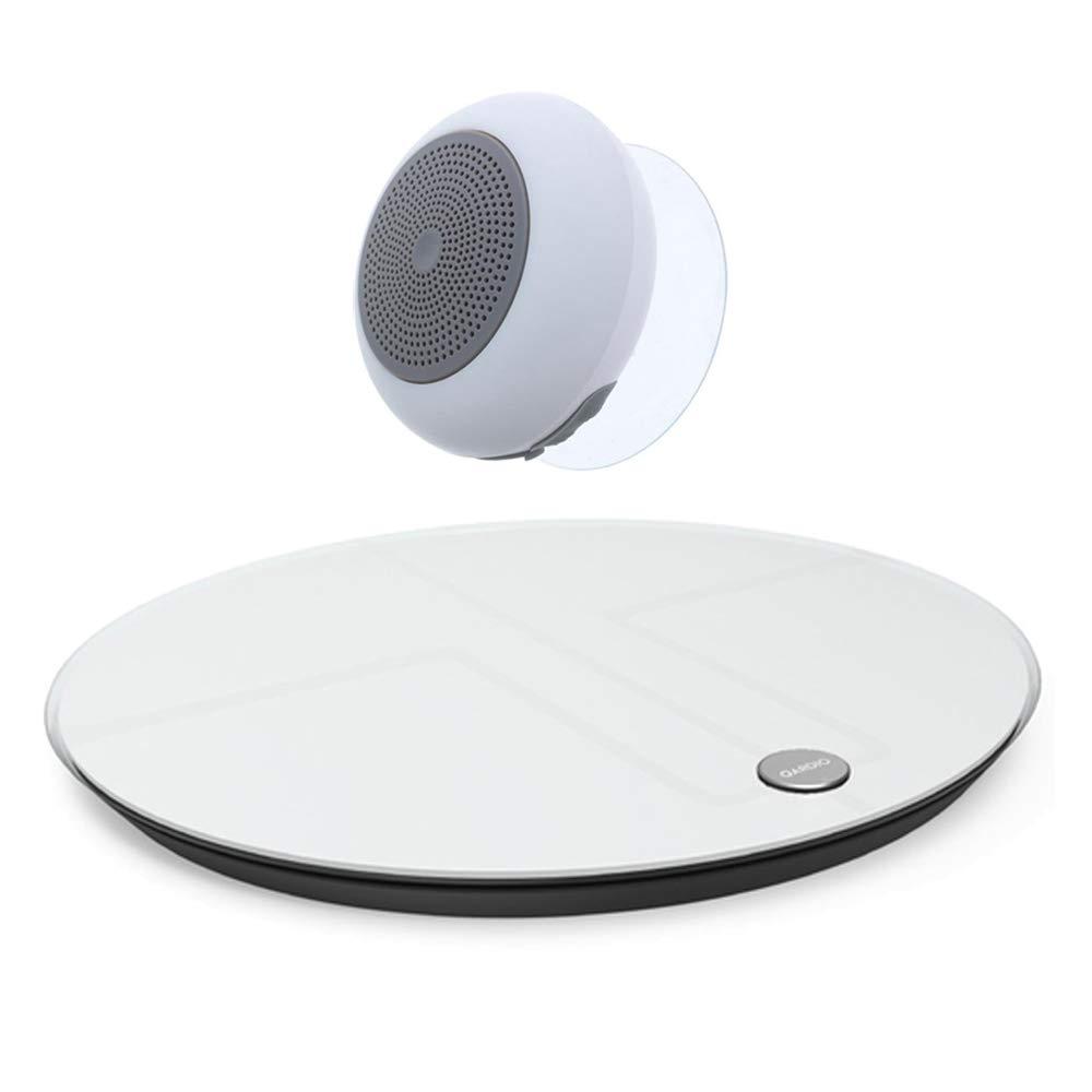 Qardio Base 2 Wireless Smart Scale (White)(B200IAW) with Bluetooth Shower Speaker
