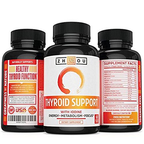 Amazon.com : Apoyo la tiroides con yodo complejos de energía, Pérdida de peso, y la reducción de cerebro - Limpiar la niebla, Fórmula Natural - vegetariano, ...