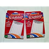 Scrabble Score Sheet 2 Pack