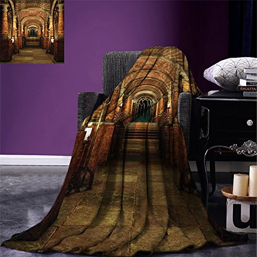 smallbeefly Gothic Digital Printing Blanket Ancient Passage