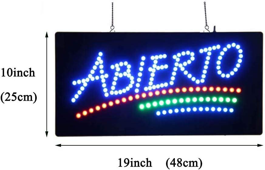 Se/ñal LED De Luz De Ne/ón Abierto Abierto por Animaci/ón De Encendido//Apagado Y Encendido//Apagado Dos Switchs For Hacer Negocios