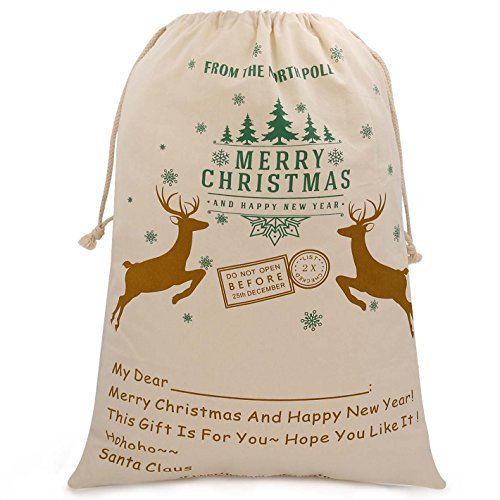 Christmas Sack Sale Extra Large Christmas Bag Santa Sack Christmas Present Wrap Bag From North Pole-T4]()