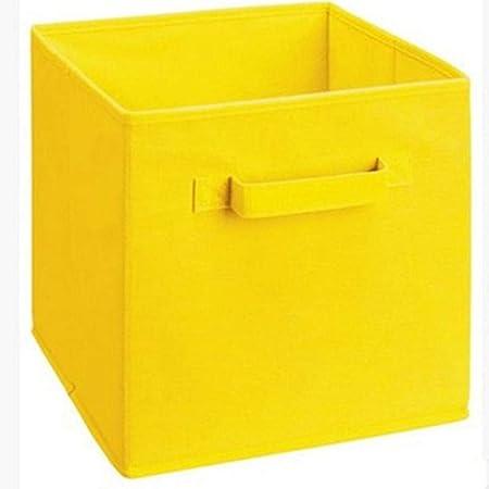 APQMR Cajas Almacenaje con Tapa Caja De Almacenamiento De Tela No Tejida Plegable Armario Cubos Contenedores Organizador Kid Toy Contenedores De Almacenamiento Organización De Oficina En Casa Org: Amazon.es: Hogar