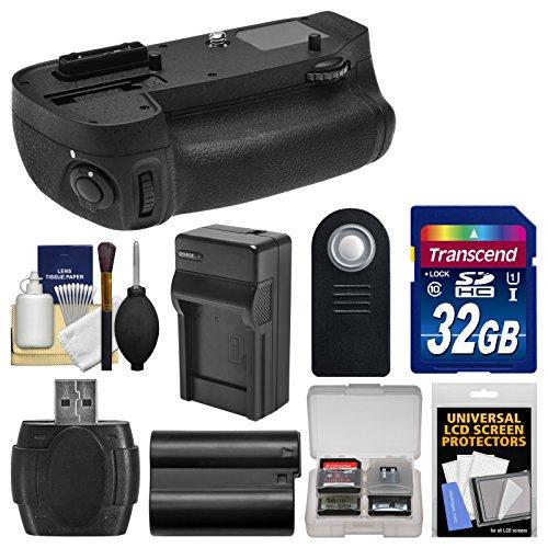 (Vivitar MB-D15 Pro Multi-Power Battery Grip for Nikon D7100 & D7200 DSLR Camera with 32GB Card + EN-EL15 Battery + Charger + Remote + Kit)
