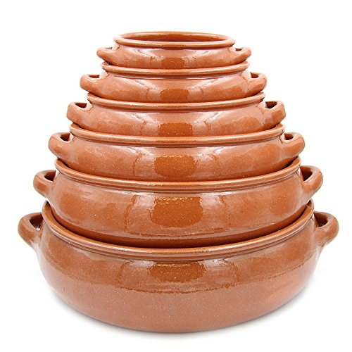 Traditional Portuguese Hand-painted Vintage Clay Terracotta Cooking Pot