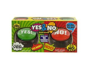 Talking Yes & No Buzzer Buttons - Pack of 6