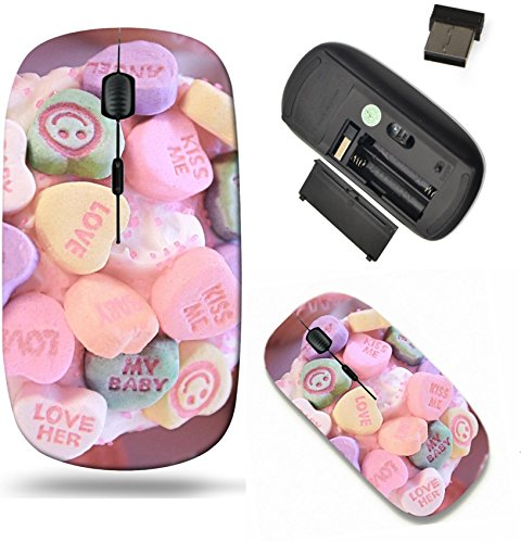 Liili Wireless Mouse Travel 2.4G Wireless Mice with USB Receiver, Click with 1000 DPI for notebook, pc, laptop, computer, mac book Baby Love Cupcake Photo 4134754