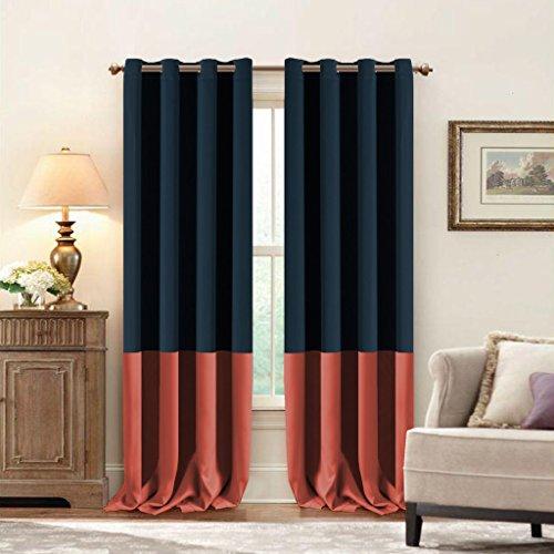 Red Curtains coral colored curtains : Coral Color Curtains: Amazon.com