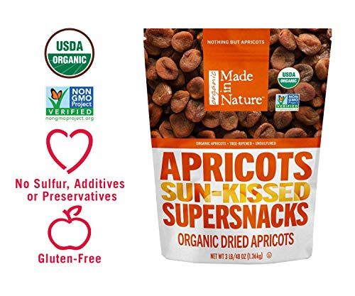 Made in Nature Organic Dried Apricots, 48oz - Non-GMO Vegan Dried Fruit Super Snack (Best Tasting Cottage Cheese)