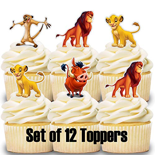 12 Cupcake Toppers Lion King]()