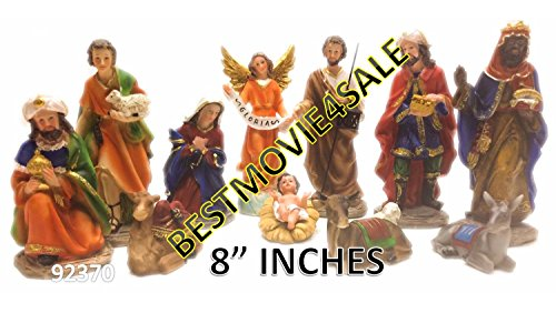 BRAND NEW NACIMIENTO/NATIVITY SET 8 INCHES 11 PIECE SET 92370 by bhe