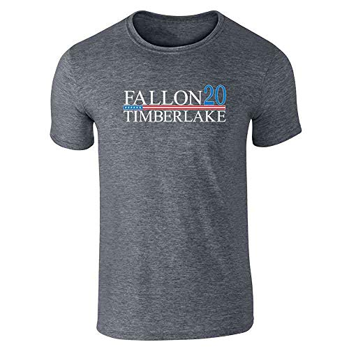 Pop Threads Fallon Timberlake 2016 Presidential Election Funny Dark Heather Gray 5XL Short Sleeve T-Shirt
