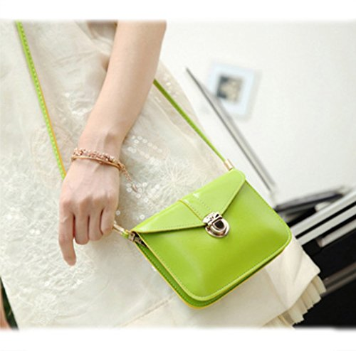 Leather Single yellow Lined Purse Bag Women Wallet Apple Crossbody Cellphone Girls Green Handbags Mini edfamily Pouch Shoulder wIT4RYUxnq