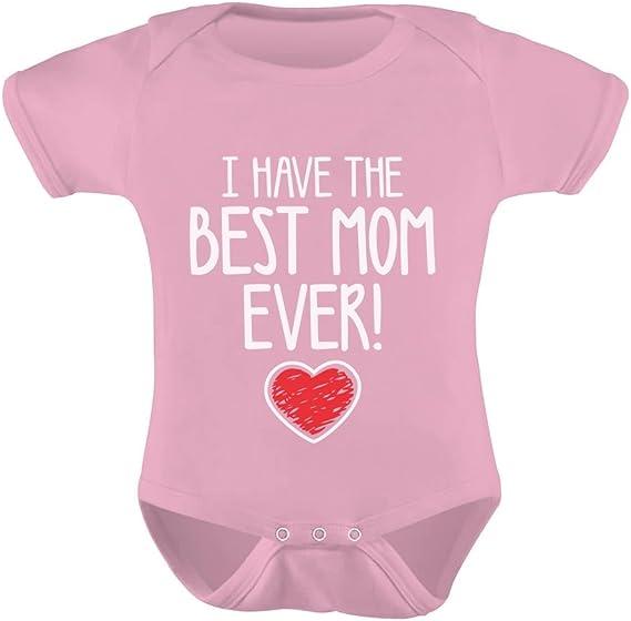 Baby Body I love Mom Geschenk Mama Muttertag Geburtstag Jungen Mädchen Oberteil