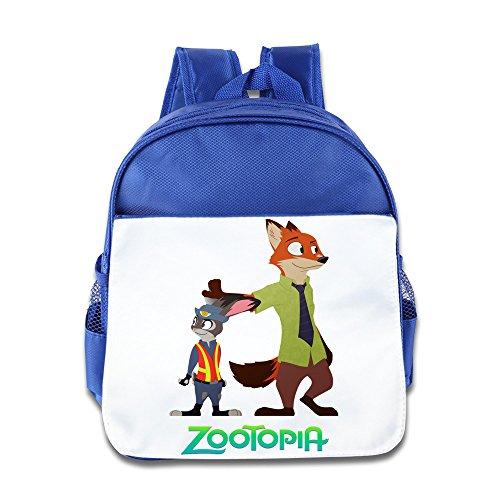 - XJBD Custom Cute Fox Nick And Rabbit Judy Kids Children School Bagpack For 1-6 Years Old RoyalBlue