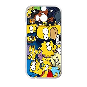 Happy Simpsons movie Case Cover For HTC M8 Case