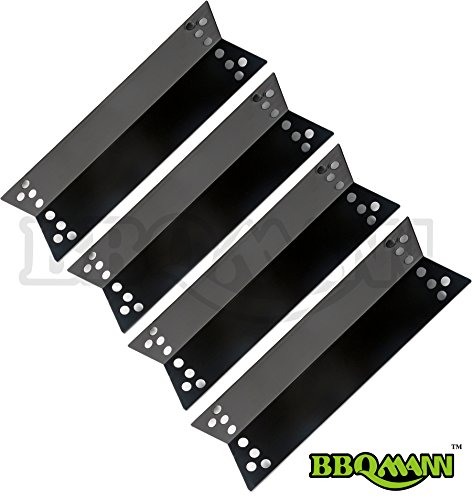 Big Save! BBQMANN 90681 (4-pack) Porcelain Steel Heat Plates / Heat Shiel for Charbroil, Kenmore Sea...