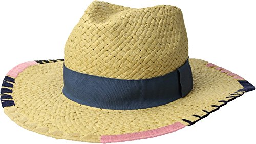 San Diego Hat Company Women's PBF7330OS Fedora w/Brim Pattern and Grosgrain Band Natural One Size (Fedora Diego San)