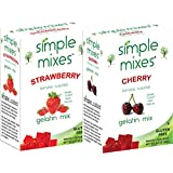 Simple Mixes Strawberry and Cherry Gelatin Pack…
