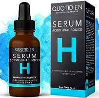 Serum Ácido Hialurónico Facial+Vitamina B5+Extracto de Bulbo de Azafrán-99% Ingredientes Naturales-Hidratación...