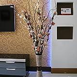 ShiQi Fiore artificiale marrone Soggiorno piano disposizione mista Vaso per la festa di nozze decorazione per banchetti