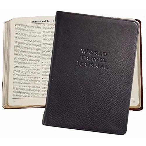 Graphic Image World Travel Journal, Genuine Calfskin Leather, 6