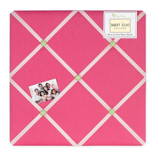 Pink and Green Flower Fabric Memory/Memo Photo Bulletin - Memo Photo Bulletin Board