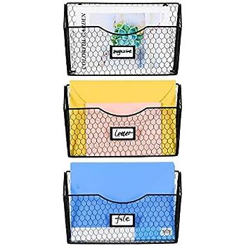 Amazon Com Veesun 3 Pack Wall Mount Single Pocket File